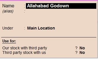 Delete the godown