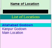 Godown List
