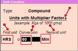 compound units multi factors