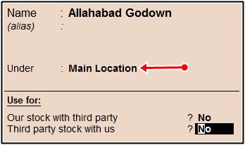 godown main location