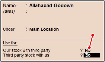godown stock third party