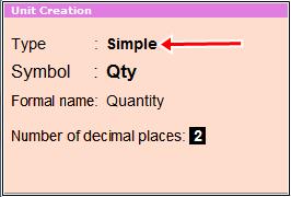 unit creation type