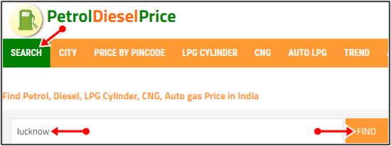 find petrol lucknow