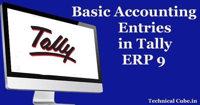 Basic Accounting Entries Tally