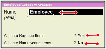 Employee category create