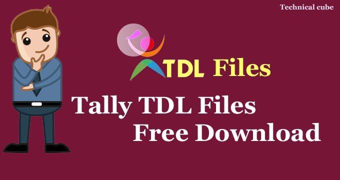 Tally TDL Files Free Download कैसे करें?