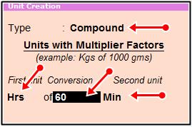 compound unit create