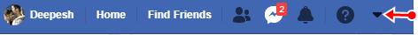 facebook seting option