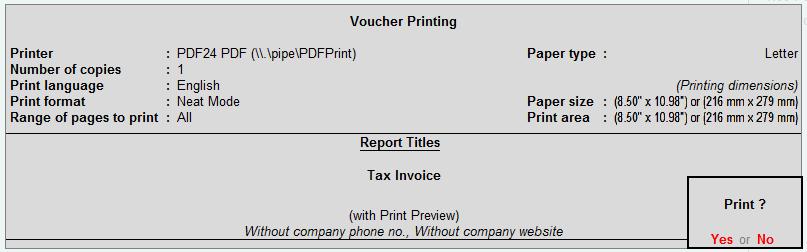 print bill