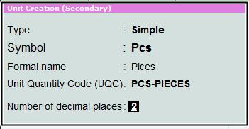 unit create pices