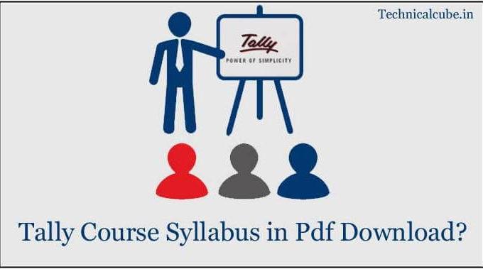 Tally Course Syllabus Pdf कैसे डाउनलोड करे?