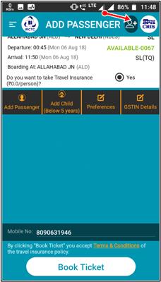add passenger