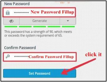 new password fillup