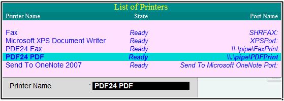 select printers