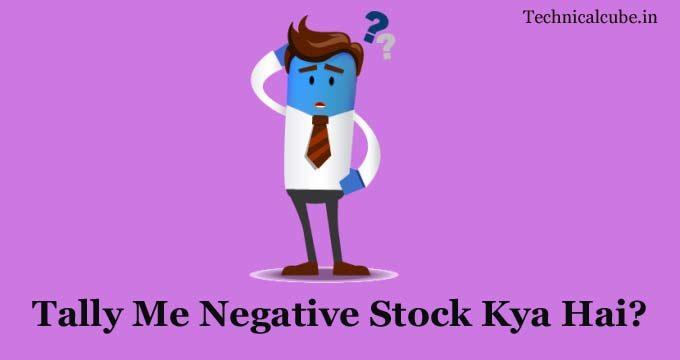 Tally Me Negative Stock Kya Hai पूरी जानकारी जाने