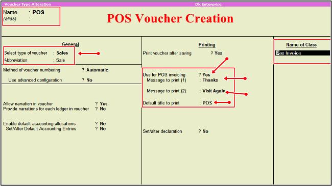 pos voucher creation