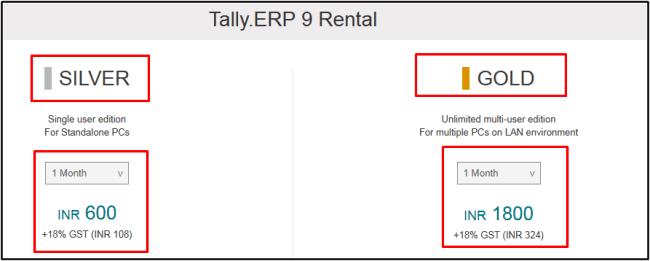rental tally price