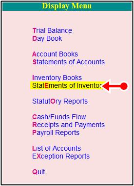 statement inventory