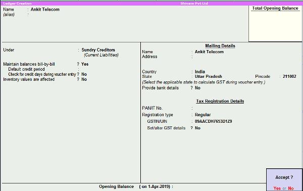 Ankit telecom ledger