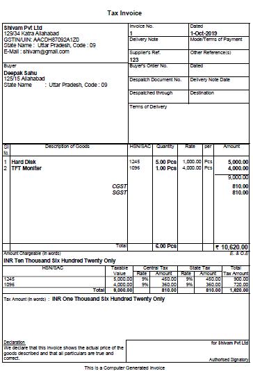 invoice final
