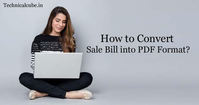 sale bill convert into pdf