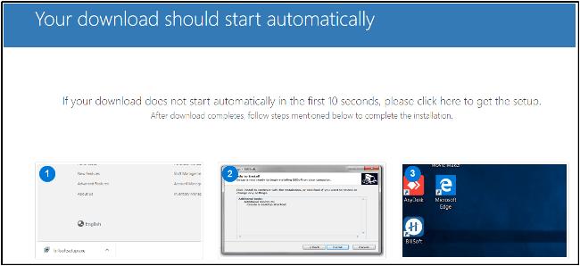 start download setup
