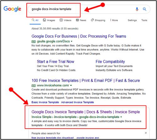 google invoice template