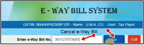 e way bill no