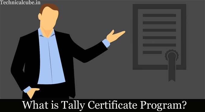 tally certificate program