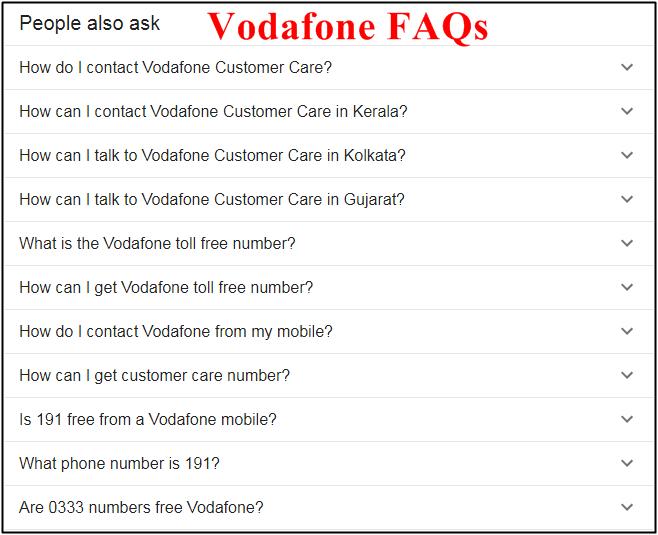 vodafone faqs questions