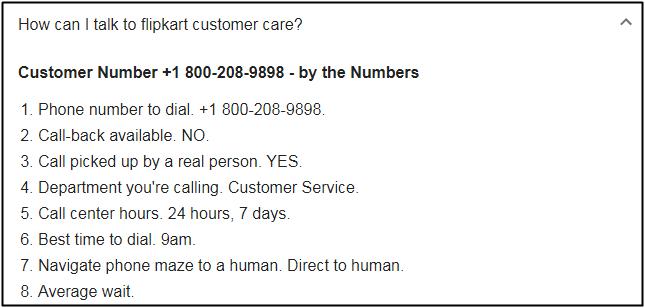 Flipkart helpline questions