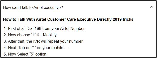airtel executive