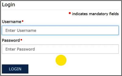 fill user name password