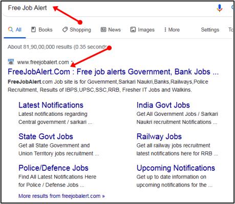free job alert search