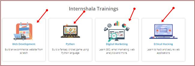 internship various tranings