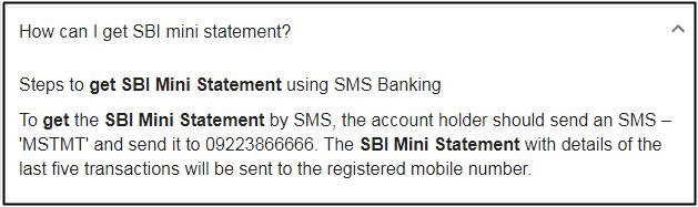 mini statements