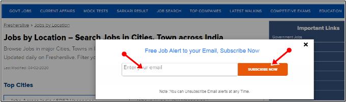 emails suscribed
