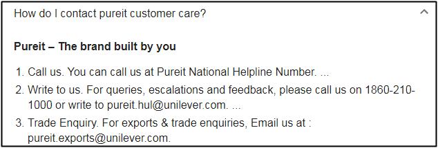 pureit helpline