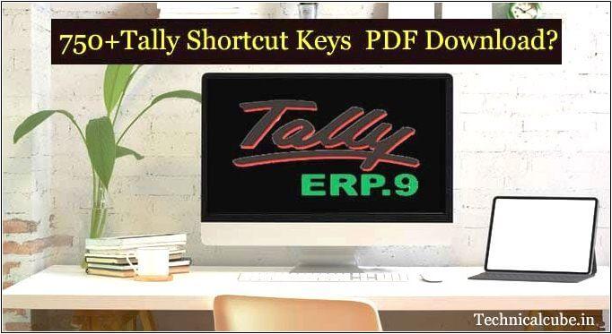 750+Tally Shortcut Keys