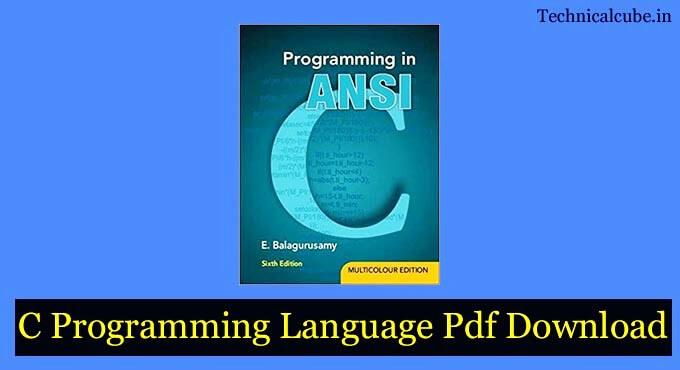 C Programming Language Pdf Download