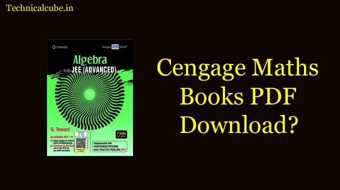Cengage Maths PDF Free Download