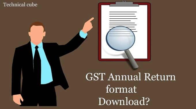 GST Annual Return format