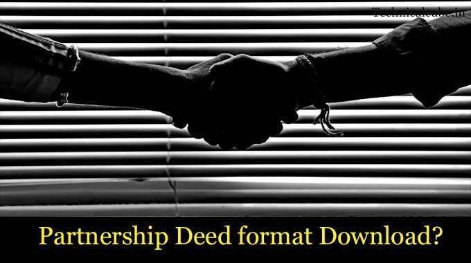 Partnership Deed format Download