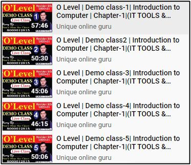 o Level 2021