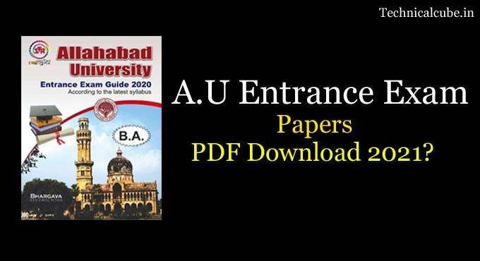 Allahabad University Entrance Exam 2020