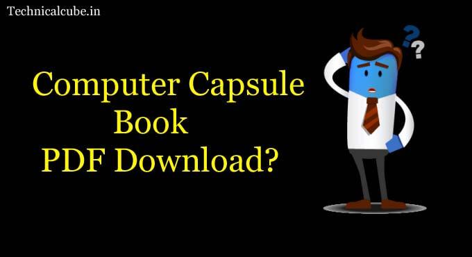 Computer Capsule Hindi Book Pdf