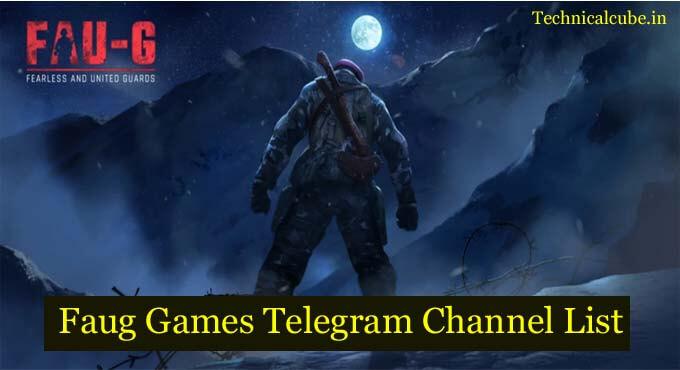 Faug Games Telegram Channel List in 2021