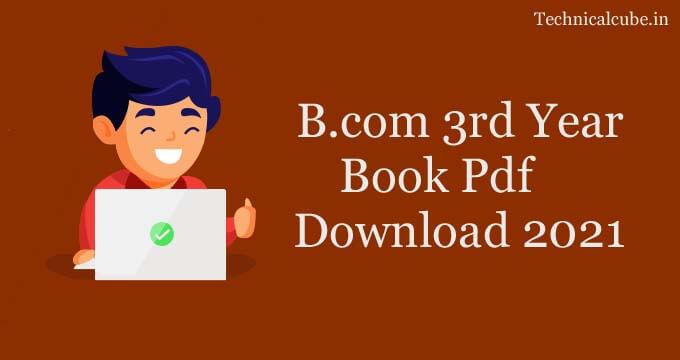 B.com 3rd Year Book Pdf Download 2021