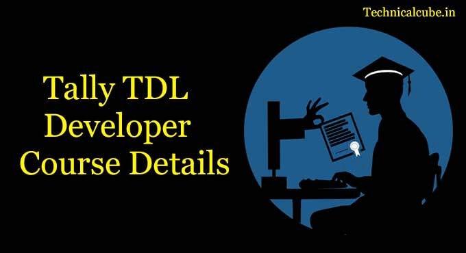 Tally TDL Developer Course in 2021
