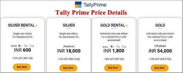 Tally prime price 2021
